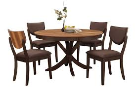 Turner Round Dining Table  Side Chairs - Round dining room tables for 4