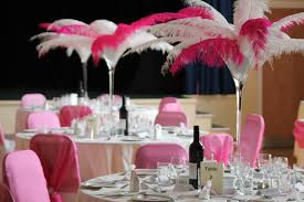 wonderful red and gold centerpieces the feather diva red and