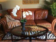 Leather And Tapestry Sofa Used Painted Mosaic Tile Table Used Furniture By