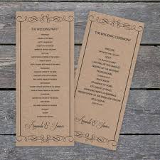kraft paper wedding programs wedding ceremony program templates products on wanelo
