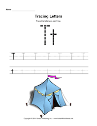 tracing letters t u2014 instant worksheets