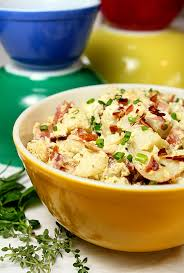 sour cream and bacon potato salad via creative culinary bbq and