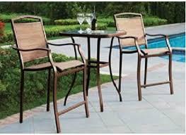 Bistro Patio Chairs Mainstays Sand Dune 3 High Outdoor Bistro Set
