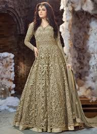 Sage Green Buy Sage Green Net Layered Anarkali Suit Anarkali Suit Online