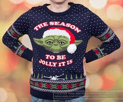 sweater wars wars yuletide yoda knitted unisex sweater jumper