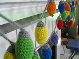 agh0311 crochet christmas light garland or ornament