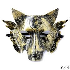 wolf masquerade mask animal performing bar horror mask men the wolf killed