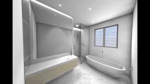 white modern bathroom design 3d cad animation youtube
