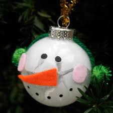 activities and ideas snowman ornament and clear ornaments