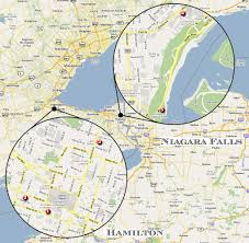Niagra Falls Map Covert Affairs Dossier Shooting Locations