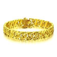 bracelet gold women images Fashion lovers whip hand catenary 11mm 21cm gold man bracelet gold jpg
