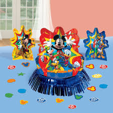 mickey mouse clubhouse centerpieces amscan disneymickey mouse birthday party assorted