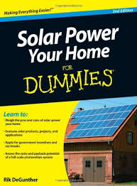 solar power your home for dummies rik degunther 8601400007686