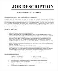 Resume Sample For Data Entry Operator by Job Description Example Pdf Professional Resumes Sample Online