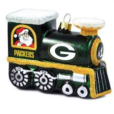green bay packers blown glass tree ornament