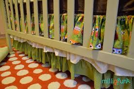 diy ruffled crib skirt milligfunk