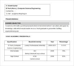 Computer Science Resume Example by Breathtaking Career Objective For Freshers Engineers Resume 65 For