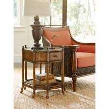 tommy bahama home 593 951 flamingo octagonal end table in crushed
