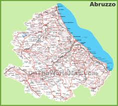 Italy Map Cities by Large Detailed Map Of Abruzzo With Cities And Towns