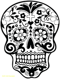dead flower coloring page day of the dead skull coloring pages sugar sheets flower within