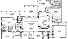 single story house plans modern ranch style with wrap around porch