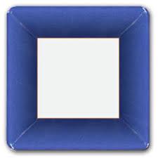 caspari grosgrain marine blue square dinner plates paperstyle