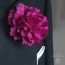 purple carnation boutonniere life size lapel flower fort belvedere