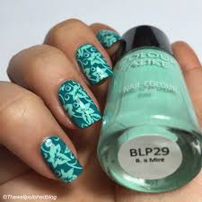 colour alike b a mint stamping polish u2013 review thewellpolishedblog