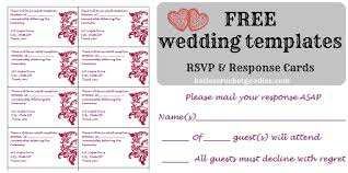 Wedding Invitations And Reception Cards Free Wedding Templates Rsvp U0026 Reception Cards Katie U0027s Crochet