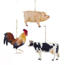 club pack of 12 cow pig and rooster farm animal