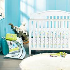 Crib Bedding Set With Bumper New Baby Neutral Safari Elephant 8pcs Crib Bedding Set With Bumper