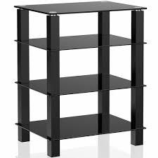 Media Storage Shelves by Tv Media Stand Storage Tower Glass Shelves Storage For Av