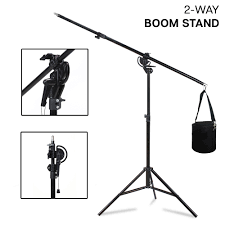 studio light boom stand photography light stand kit with boom arm and sandbag for studio