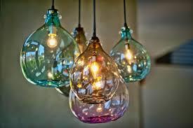 multi colored light fixture top 53 incredible bronze pendant light fixtures colored glass