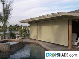 Shades For Patio Covers Patio Drop Shades Exterior Motorized Retractable Shades