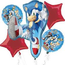 sonic the hedgehog party supplies saga sonic the hedgehog foil balloon bouquet birthday party