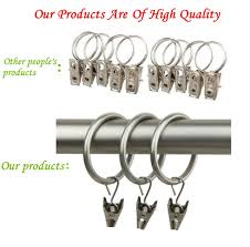 Drapery Rings Without Clips Curtains Ideas Curtain Rod Ring Clips Inspiring Pictures Of