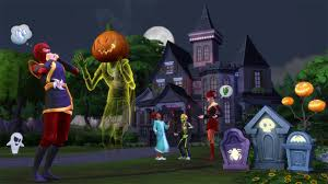Halloween Haunted House Cake Haunt The Neighborhood With The Sims 4 Spooky Stuff U2013 Simcitizens
