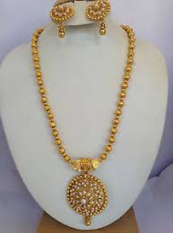new gold set south indian traditional jewellery gold pearl new design necklace