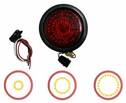 4 inch round led tail lights round emergency led lights wholesale emergency trailer lights