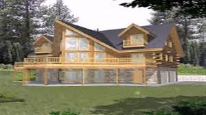 log cabin floor plans with walkout basement youtube