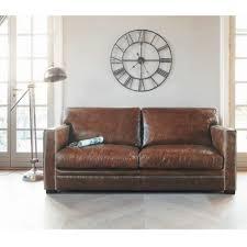 canap cuir design pas cher canape cuir blanc marron convertible relax conforama vintage angle