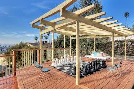 Roof Trellis Decks And Patio With Pergolas Diy