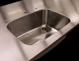 stainless steel countertop with built in sink custom stainless steel countertops with brushed 4 finishes