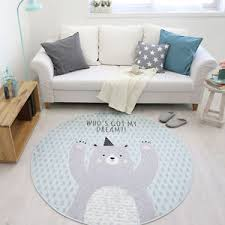 Baby Area Rug Kids Baby Play Mat Bear Round Area Rug Thick Living Room