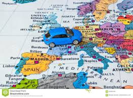 Europe Map by Europe Map And Car Toy Stock Photo Image 82482164