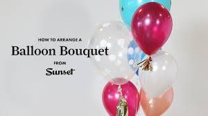 balloon bouquet how to arrange a balloon bouquet sunset