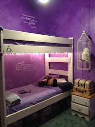 Bedroom Decorating Ideas With Purple Walls Harry Potter Bedroom I Love Harry Potter Plus Those Purple Walls