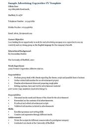 Copywriter Resume Template Advertising Copywriter Resume