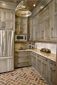 Kitchen Distressed Kitchen Cabinets Best White Paint For 15 Perfectly Distressed Wood Kitchen Designs Home Design Lover